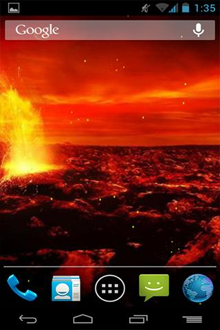 Fondo Animado Volcán