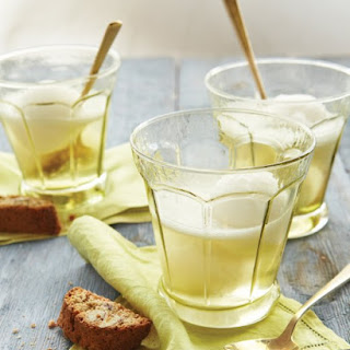 Lemon Sorbet with Prosecco.