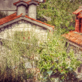Stone Adriatic Houses by Nat Bolfan-Stosic - Buildings & Architecture Homes ( adriatic, old, houses, sea, stone )