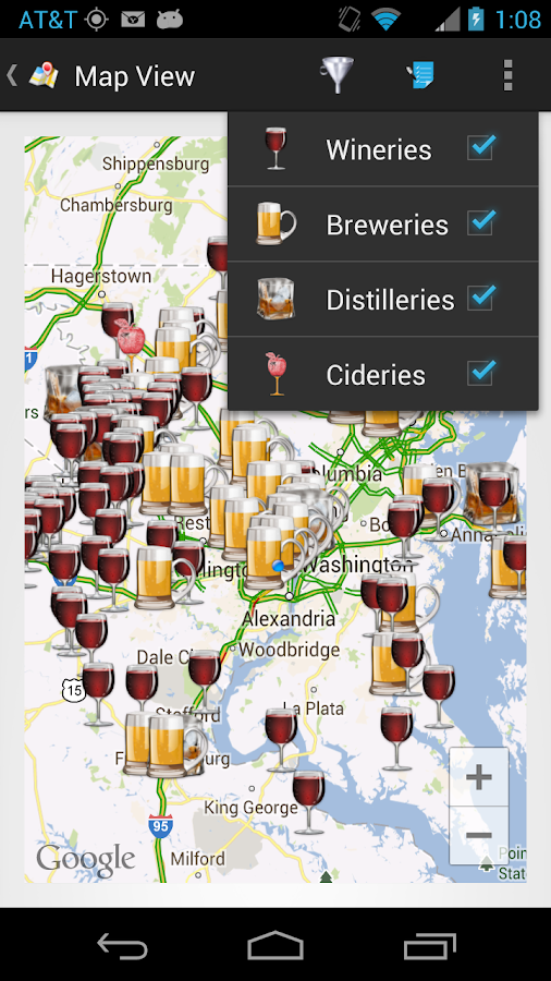 theCompass Alcohol Locator - screenshot