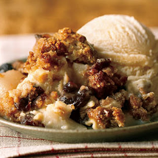 Pear and Dried-Cherry Custard Crisp.