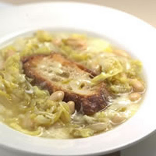 Italian Peasant Soup With Cabbage, Beans, and Cheese