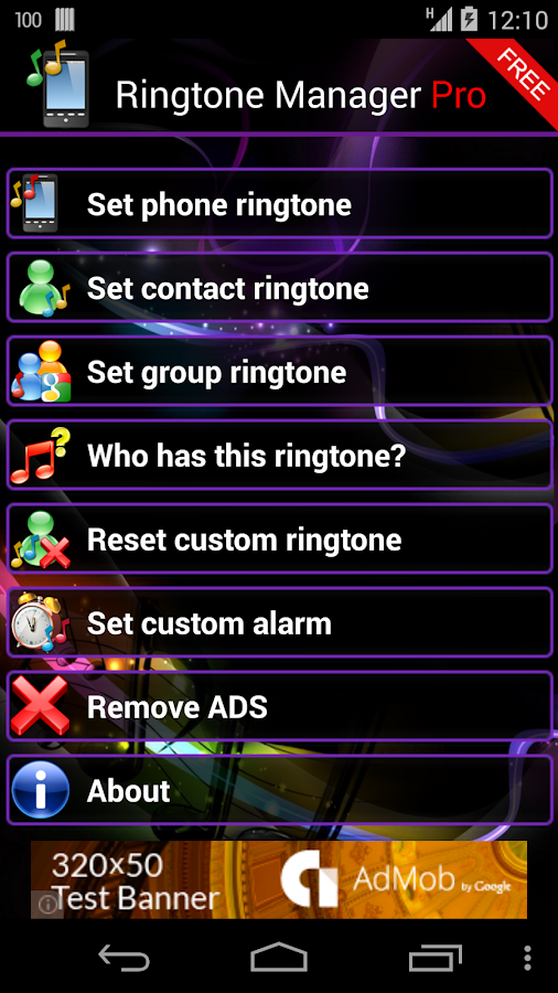 Ringtone Manager Pro FREE - screenshot