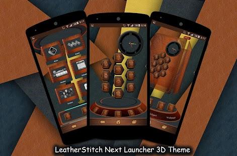Leather Next Launcher 3D Theme|玩個人化App免費|玩APPs