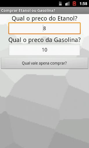 Combustivel Gasolina x Etanol
