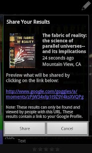 Google Goggles Screenshot 6