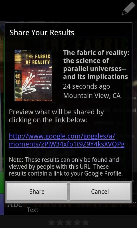 Google Goggles Screenshot 5