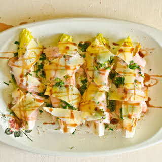 Endive with Ham and Cheese.