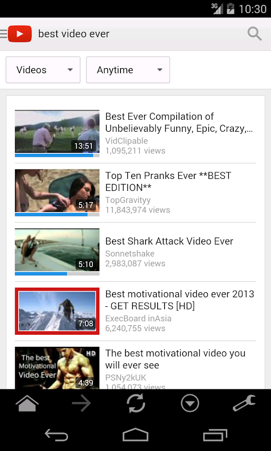Screenshots of Ratings for YouTube™ for Android