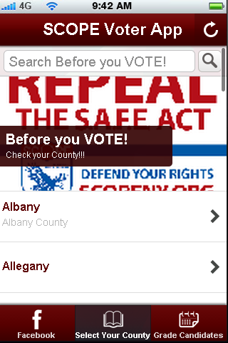 SAFE Act Voter App