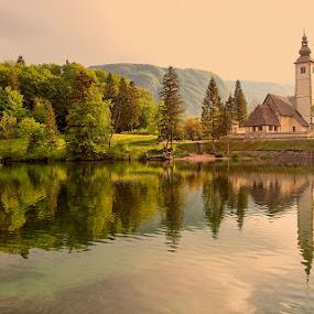 morning at Bohinj Lake by Ld Turizem - Landscapes Waterscapes