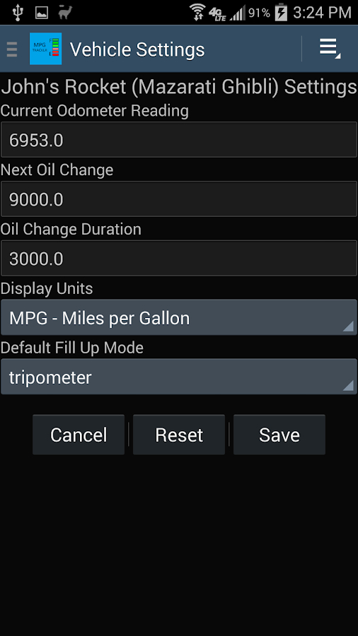 MPG Tracker- screenshot
