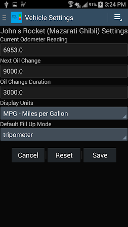 MPG Tracker 3.1.1 screenshot 2015332