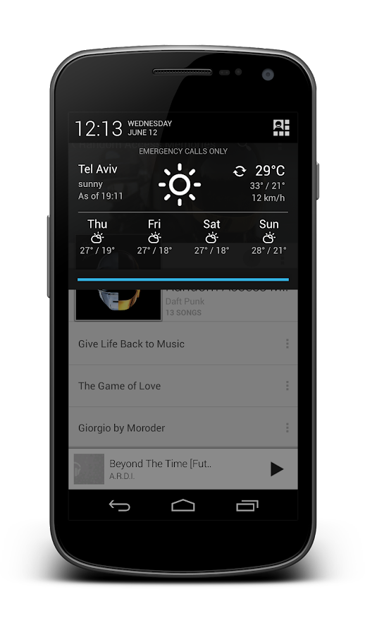 Notification Weather Premium - screenshot
