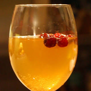 Chilled Spiced and Bubbly Cider Punch.