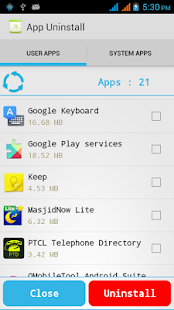 App Uninstall Advanced