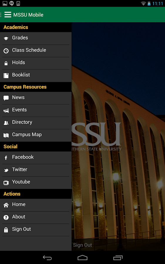 MSSU Mobile - screenshot
