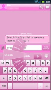 GO Keyboard Pink Theme- screenshot thumbnail
