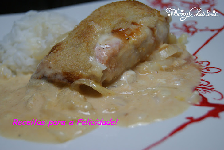Baked Hake Loins with Salmon and Cheese Recipe