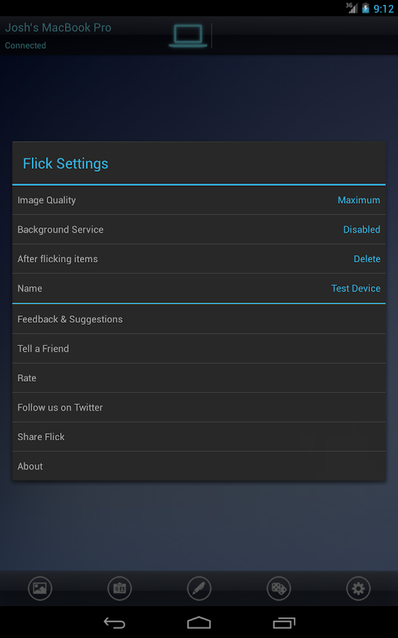 Flick- screenshot