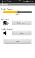 Screenshot of Poi Notifier