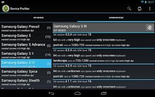 Screenshot of Device Profiler