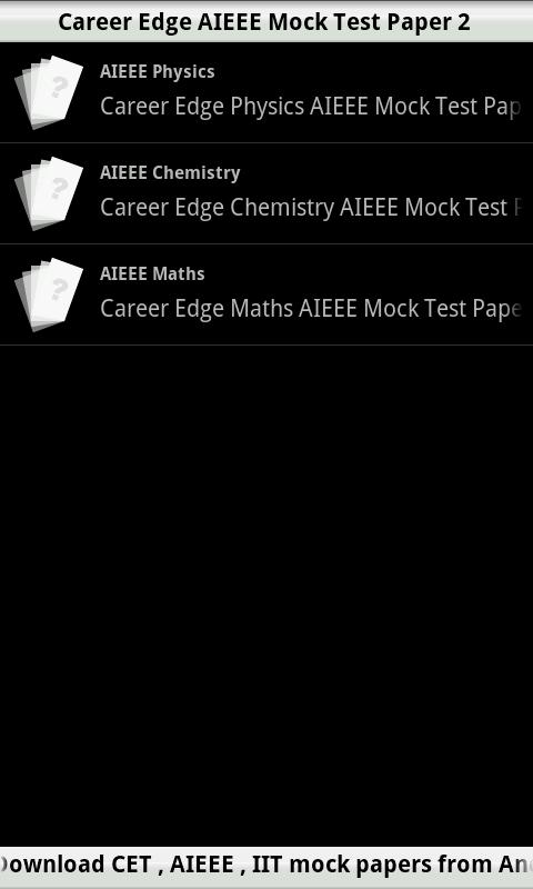 AIEEE Mock Test  2- screenshot