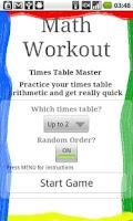 Screenshot of Math Workout