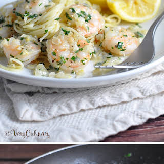 Lemon Cream Shrimp Scampi.
