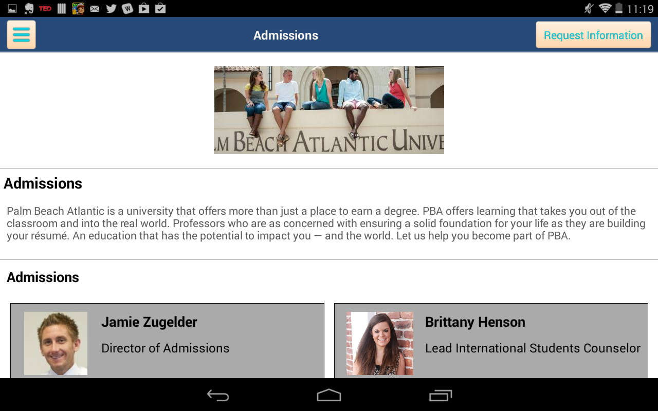 Palm Beach Atlantic University- screenshot