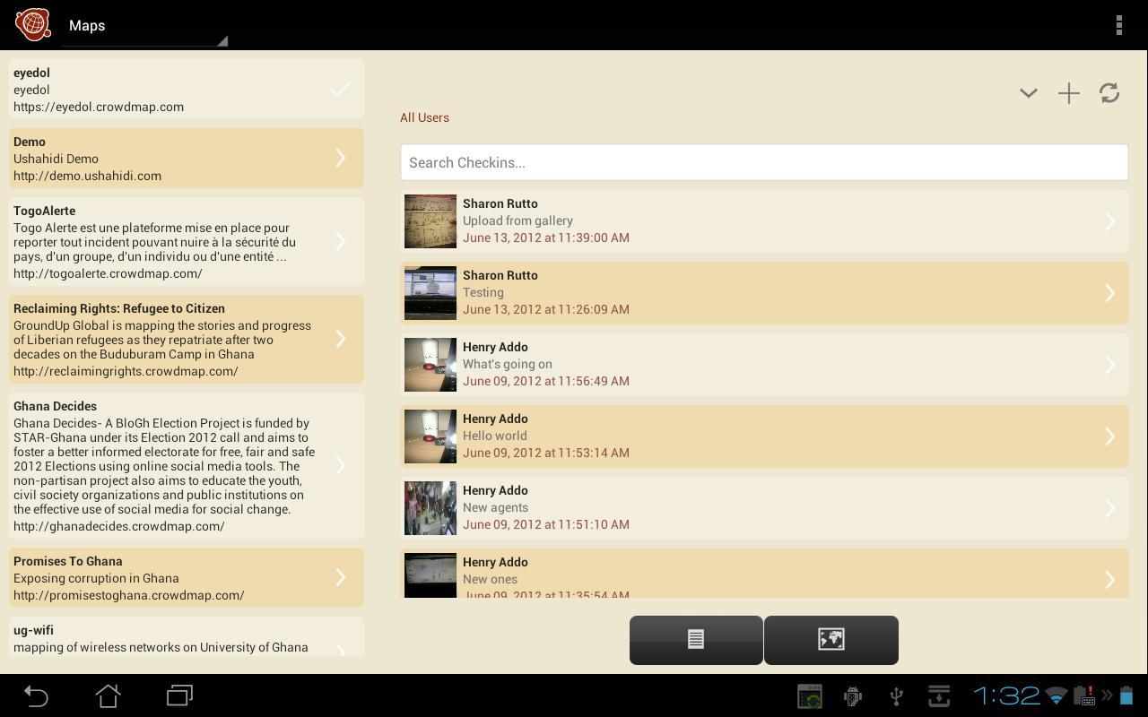 Ushahidi- screenshot