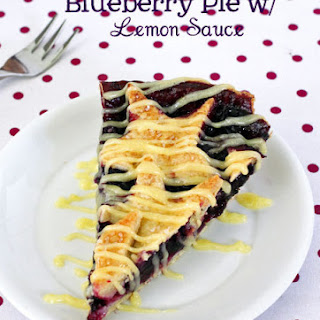 Blueberry Pie with Lemon Sauce