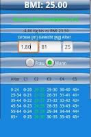 Screenshot of BMI Rechner