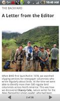 Screenshot of Bird Watcher's Digest