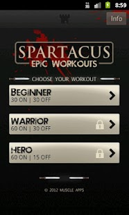 Spartacus Workout - screenshot thumbnail
