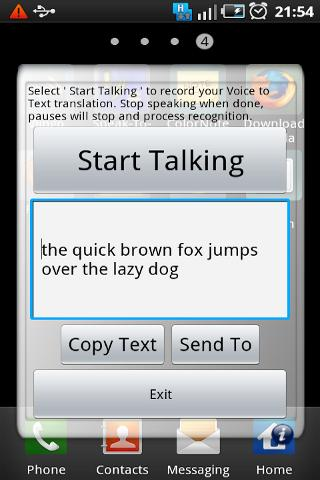 Speak-To-Text - screenshot