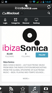 Ibiza Sonica Radio - app fan - screenshot thumbnail