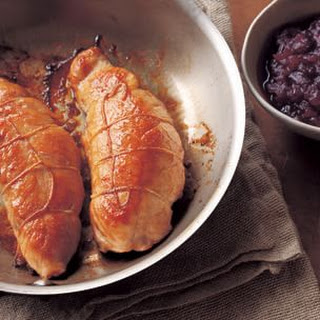 Maple-Mustard Turkey Tenderloins with Cranberry-Port Sauce