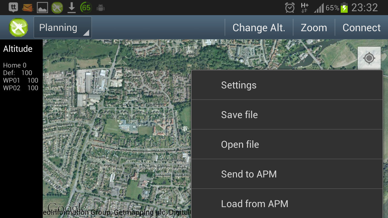 DroidPlanner- screenshot