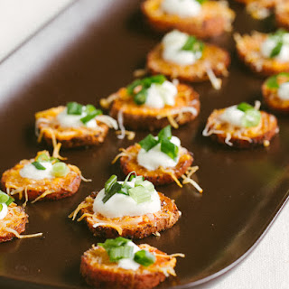 Loaded Sweet Potato Rounds.