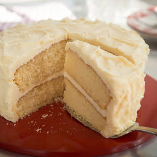 Yellow Layer Cake With Vanilla  Buttercream Frosting.