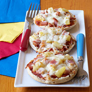 Canadian Bacon and Pineapple Mini Pizzas.