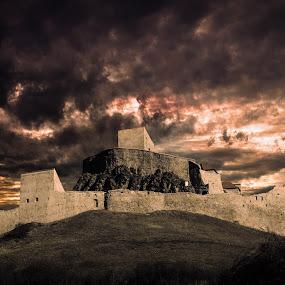 Rupea Citadel by Dragos Birtoiu - Buildings & Architecture Public & Historical ( sky, citadel, dramatic, romania, landscape )