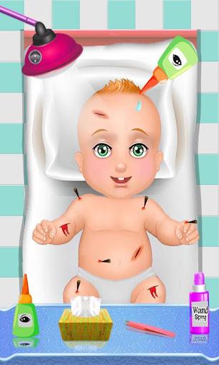 聖誕節的虛擬嬰兒護理