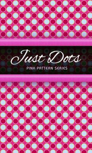 Pink Polka Dot GO SMS Theme