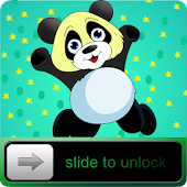 Blue Baby Panda HD Go Locker
