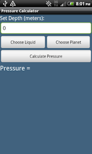 Pressure Calculator - screenshot thumbnail