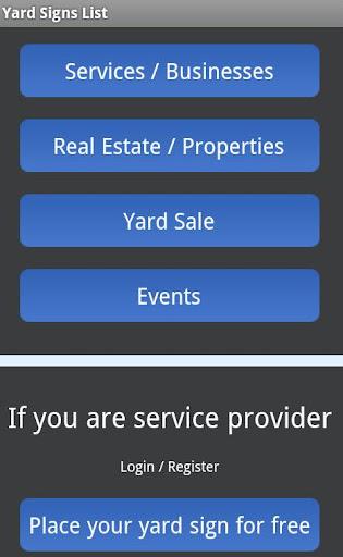 Yard Signs List
