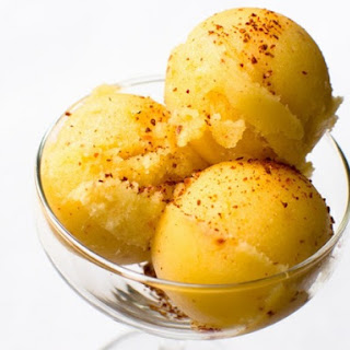Spicy Pineapple and Tequila Sorbet.