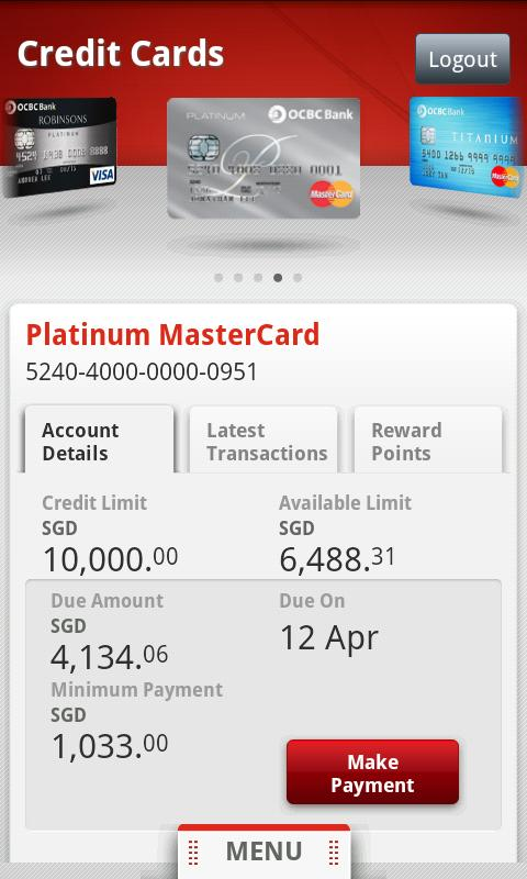 OCBC SG Mobile Banking - screenshot